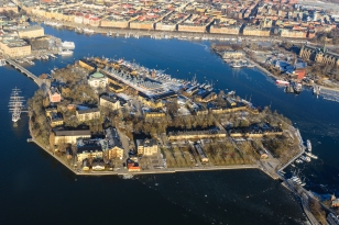 Aerial view of skeppsholmen.